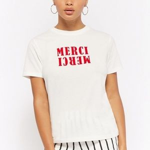 Forever 21 Merci Graphic Tee